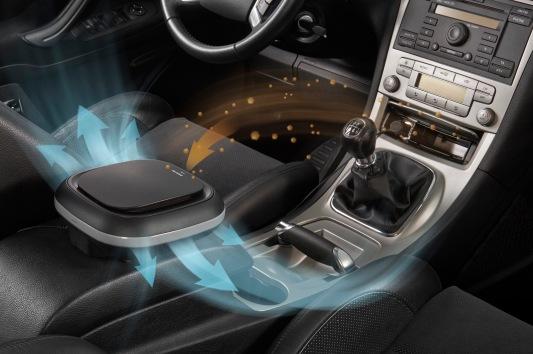 Ein Filter im Auto reinigt die Luft